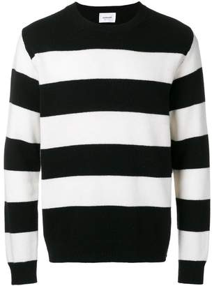 Dondup striped crew neck jumper