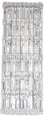 Schonbek Quantum 10-Light Wall Sconce in Stainless Steel With Clear Spectra Crystal