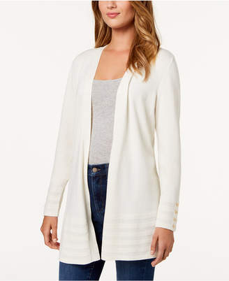 Charter Club Open-Front Cardigan