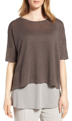 Women's Eileen Fisher Organic Linen Top $138 thestylecure.com