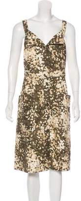 Stella McCartney Camo Print Midi Dress