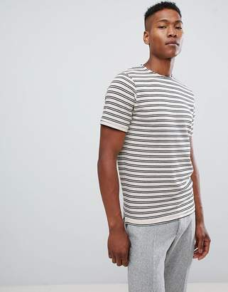 Selected T-Shirt With Textured Stripe