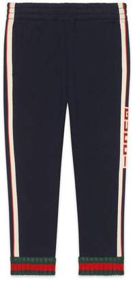 Gucci Children's trousers with jacquard trim