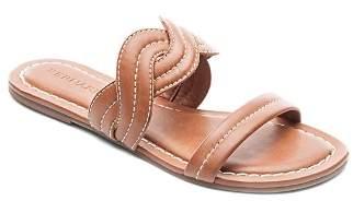 Bernardo Women's Leather Double Strap Slide Sandals