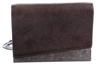 Helmut Lang Leather Metal-Trimmed Crossbody