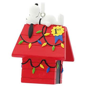 Hallmark Peanuts Snoopy on Decorated Dog House Ornament Movies & TV