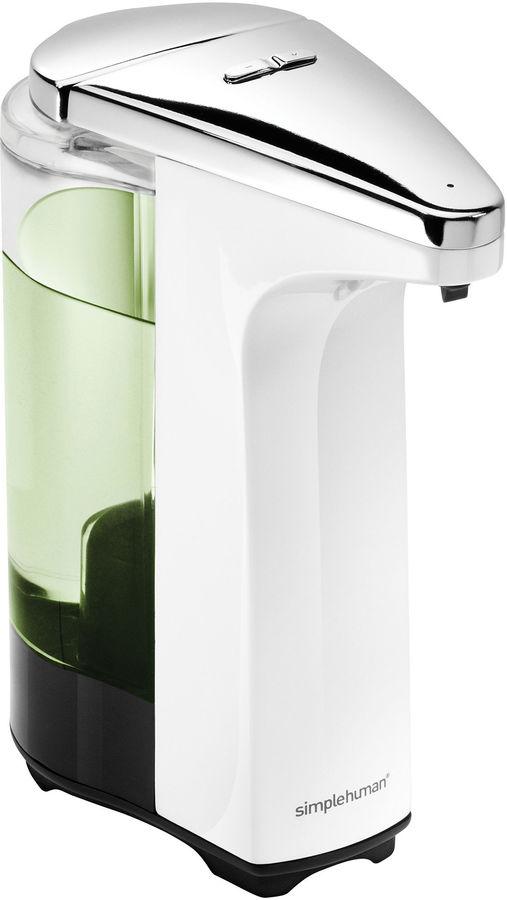 Simplehuman 8 ounce white sensor pump soap dispenser shopstyle kitchen - Simplehuman shampoo soap dispensers ...