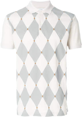 Ballantyne diamond knit polo shirt