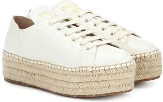 Prada Leather espadrille sneakers