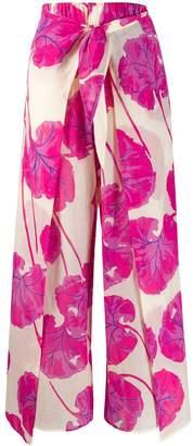 Diane von Furstenberg Kilea kimono leaf trousers