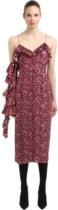 Magda Butrym Floral Printed Silk Jacquard Dress