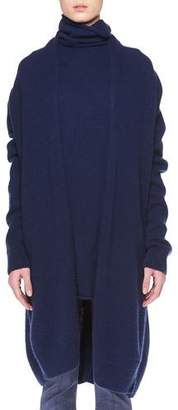 The Row Elado Long Cashmere-Silk Open-Front Cardigan