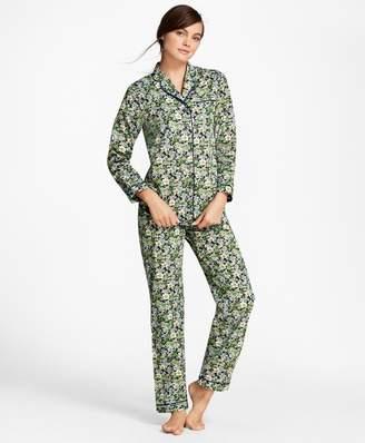 Brooks Brothers Floral-Print Cotton Poplin Pajama Set