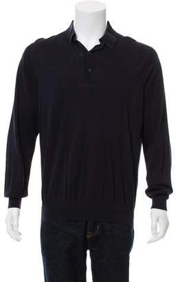 Loro Piana Long-Sleeve Knit Polo Shirt