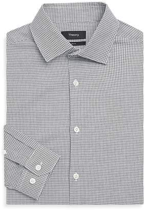 Theory Men's Slim-Fit Houndstooth Dress Shirt