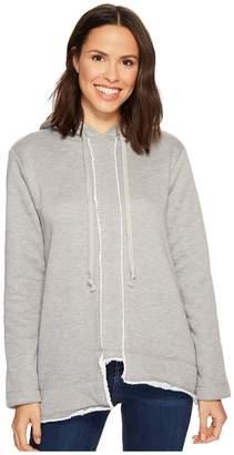 True Grit Dylan by Faux-Sherpa Fleece Long Seam Detail Hoodie Women's Sweatshirt