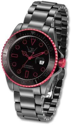 LTD Watch LTD Unisex Watch LTD-031802 Ceramic Diver Black Ceramic With Red Aluminium Anodized Plated Bezel