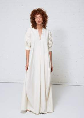 Jil Sander Eulogy Pleated Sleeve Dress