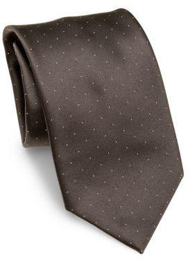 BrioniBrioni Micro Dots Silk Tie