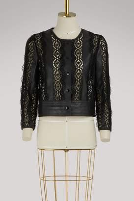 Vanessa Bruno Iveo leather short jacket
