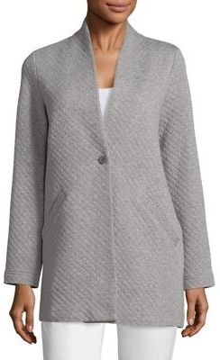 Eileen Fisher Diamond Quilted Long Jacket $298 thestylecure.com