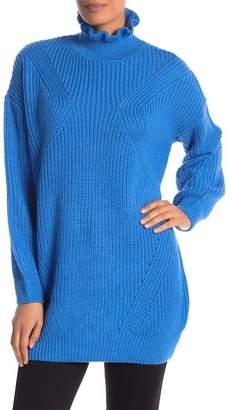 Vero Moda Glendora Ruffle Turtleneck Knit Sweater