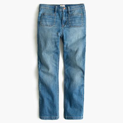 J.CrewPetite Billie patch-pocket demi-boot crop jean in Torrey wash