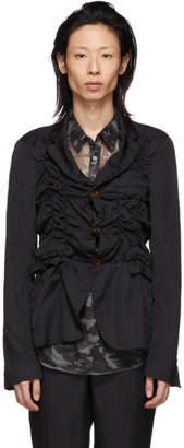 Comme des Garcons Black Jacquard Stripe Blazer