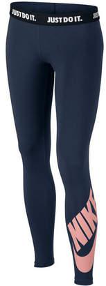 Nike Logo Graphic Leggings, Big Girls