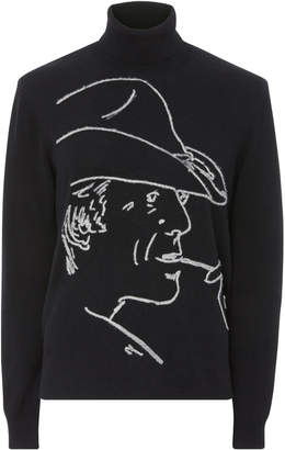Ralph Lauren Embroidered Cashmere Turtleneck Sweater