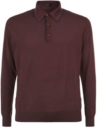 Stefano Ricci Crocodile Trim Polo Shirt