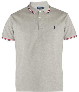 Polo Ralph Lauren Custom Slim Fit Cotton Pique Polo Shirt - Mens - Grey