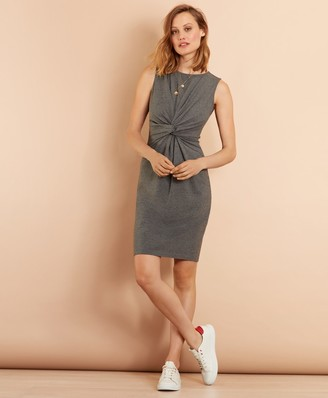 Brooks Brothers Ruched Knot Jersey Sheath Dress