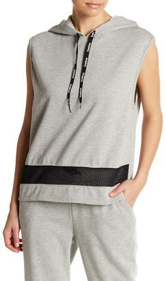 Bebe Sleeveless Logo Hooded Sweatshirt