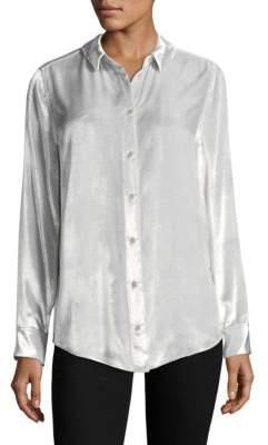 Equipment Velvet Button-Front Shirt