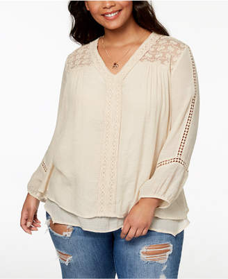 Style&Co. Style & Co Plus Size Layered-Hem Top, Created for Macy's