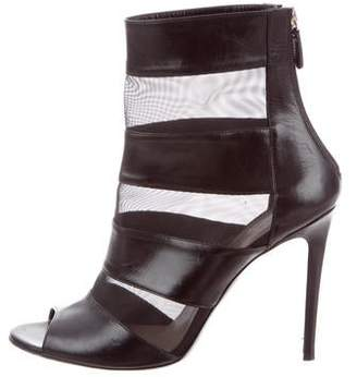 Barbara Bui Mesh-Accented Leather Boots