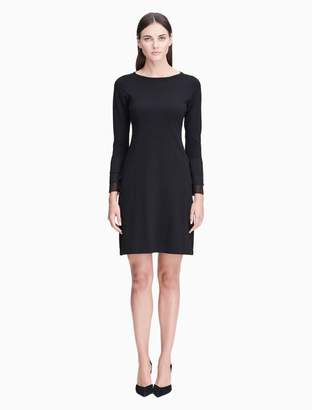Calvin Klein chiffon cuff sweater dress