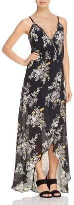 Karina Grimaldi Briana Crossover Floral-Print Maxi Dress
