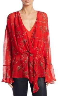 IRO Linette Floral Bell-Sleeve Blouse