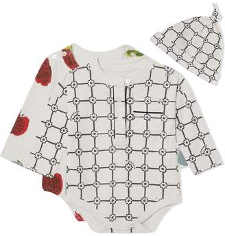 Burberry Apple and Floral Print Three-piece Baby Gift Set