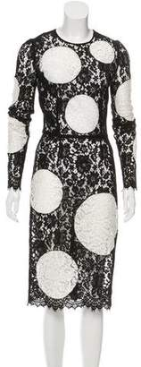 Dolce & Gabbana Lace Polka Dot Dress