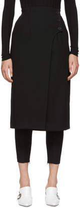 Enfold Black Wool Layered Trousers