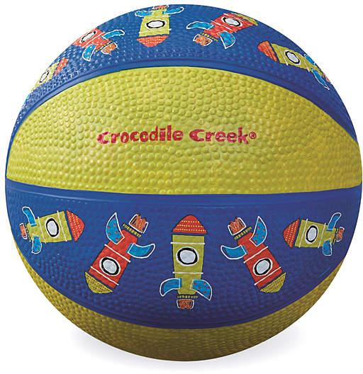 Blue & Yellow Rocketship Basketball