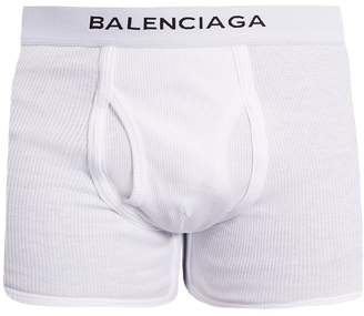 Balenciaga Set of three logo-embroidered cotton boxer trunks