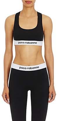 Paco Rabanne Women's Logo Sports Bra - Black