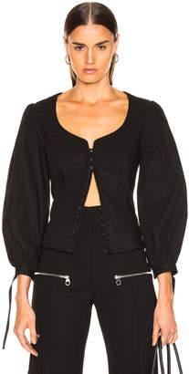 Proenza Schouler Puff Sleeve Top in Black | FWRD