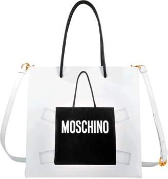 Moschino Trompe L'il shopper bag $840 thestylecure.com