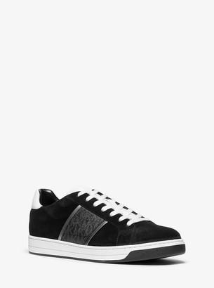 Michael Kors Tyler Suede and Logo Sneaker