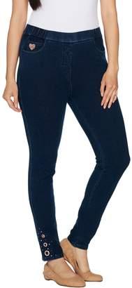 Factory Quacker DreamJeannes Short Leggings with Rose Gold Grommets